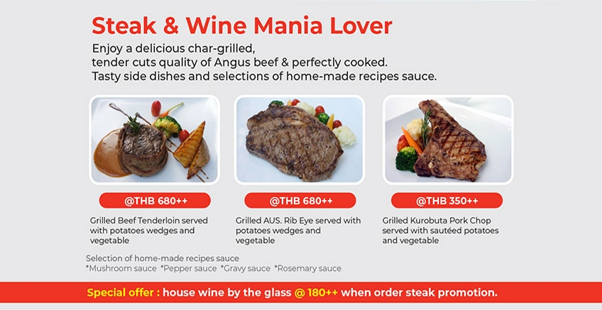 Steak and Wine Mania Lover